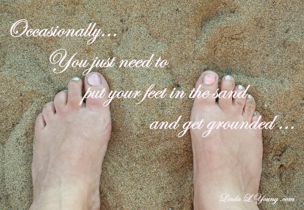 Feet in the sand-words