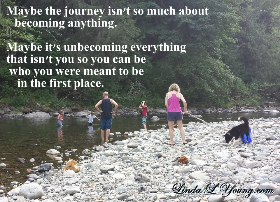 The journey is...